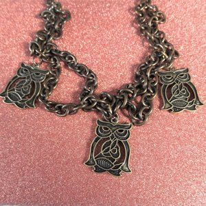 NWT Mystic Owl Statement Necklace